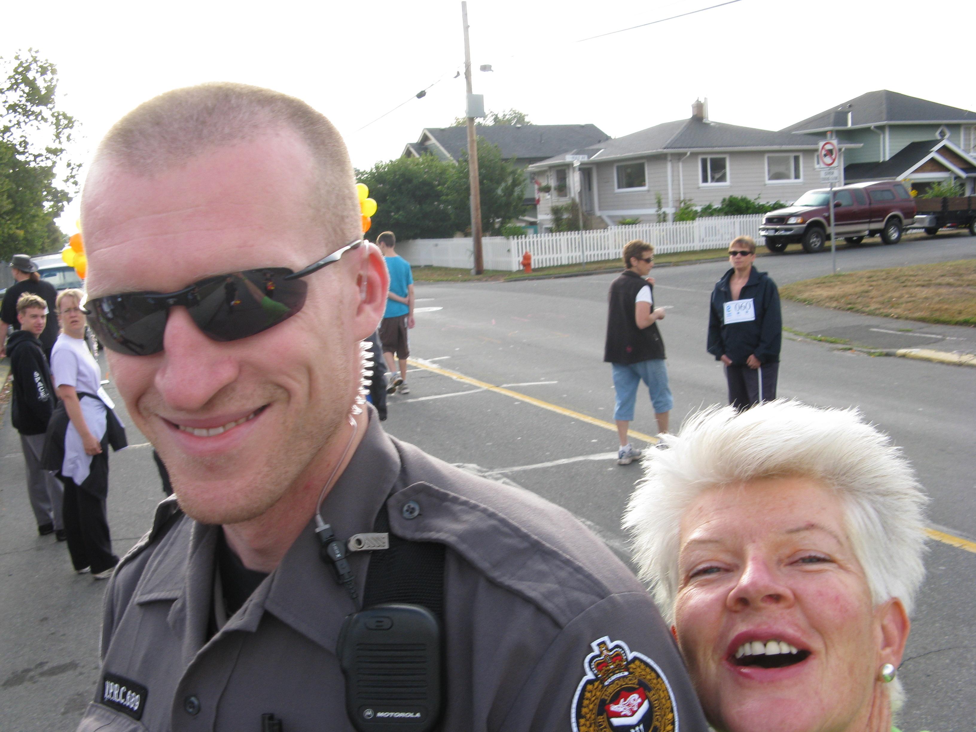 really tall policeman