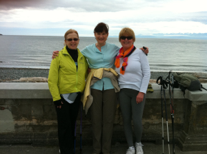 3 amigos in front of Straights of Juan de Fuca