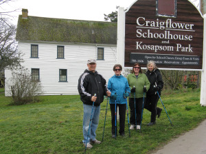 Historic Craigflower school by the Gorge in Victoria BC