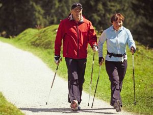 START NORDIC WALKING THE EASY WAY @ on sidewalk near Spinnakers Pub